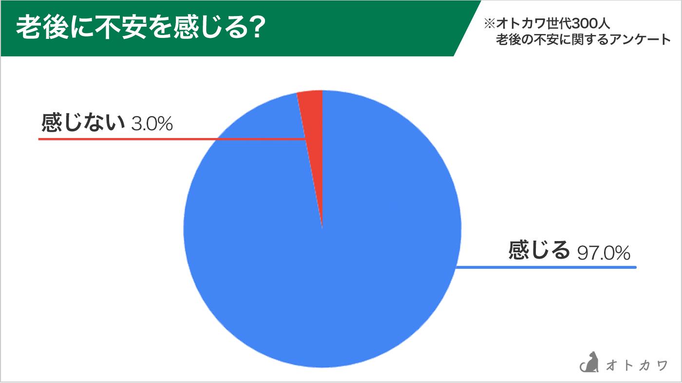 老後の不安円グラフ
